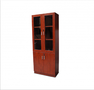 Full height cabinet with Glass Swing Door  with lock