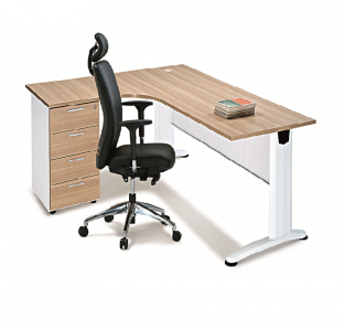 BJS Metal Curved Executive Desk