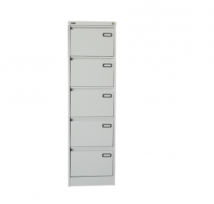 Metal Five Drawer Filing Cabinet
