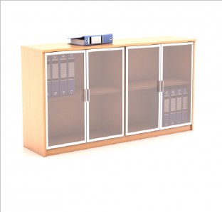 Low Height Cabinet with Glass Swing Door