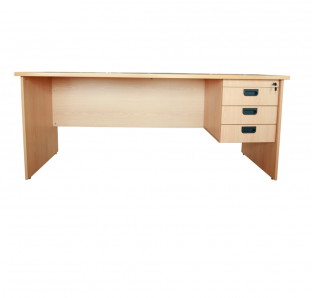 Mars Executive Desk With Three Drawer Fixed Pedestal