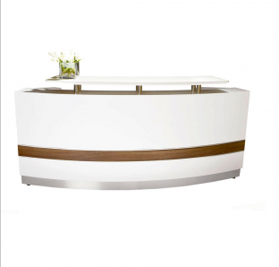 Reception Desk with Wooden Top
