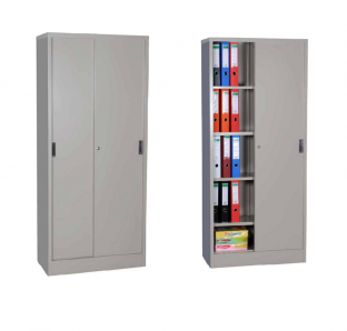 Metal Full Height Cabinet With Sliding Door