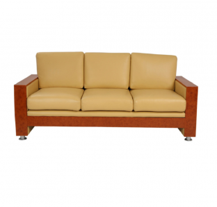 Techno  W/ wood Three Seater Sofa