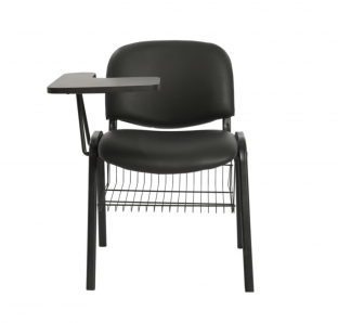 Isoscele chair with writing pad and Basket - ISO 312-4