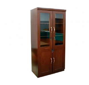 MAB full height cabinet with glass and woden Door