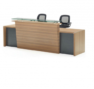 Custom made Reception Desk in veneer Finish