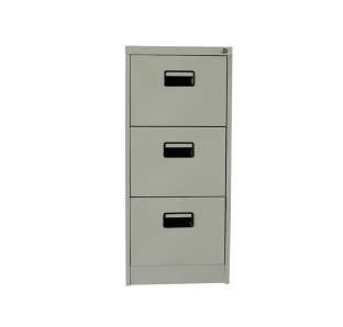 Metal Three Drawer Filing Cabinet