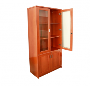 BCF-Wooden Full Height Cabinet with Glass Door