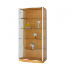 Full height cabinet with Glass Swing Door